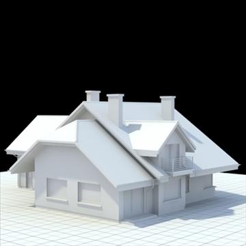 highly detailed single family house 5 3d model blend lwo lxo obj 100614