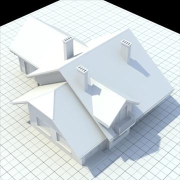 highly detailed single family house 5 3d model blend lwo lxo obj 100615