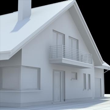 highly detailed single family house 5 3d model blend lwo lxo obj 100616