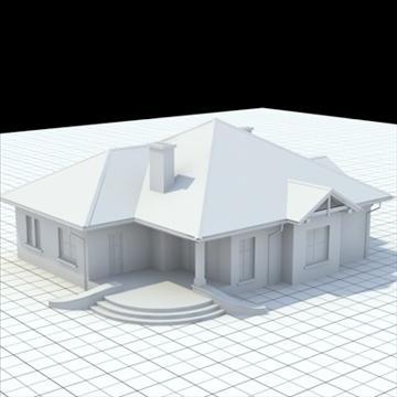 маш нарийвчилсан нэг гэр бүлийн байшин 6 3d загвар холь lwo lxo obj 102315