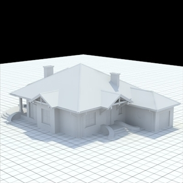 highly detailed single family house 6 3d model blend lwo lxo obj 102316