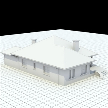 highly detailed single family house 6 3d model blend lwo lxo obj 102318