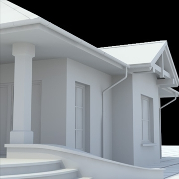highly detailed single family house 6 3d model blend lwo lxo obj 102319