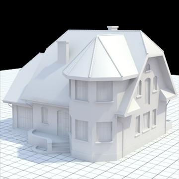 маш нарийвчилсан нэг гэр бүлийн байшин 7 3d загвар холь lwo lxo obj 102484
