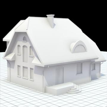 highly detailed single family house 7 3d model blend lwo lxo obj 102485