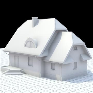 highly detailed single family house 7 3d model blend lwo lxo obj 102486