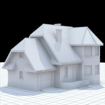 highly detailed single family house 7 3d model blend lwo lxo obj 102487
