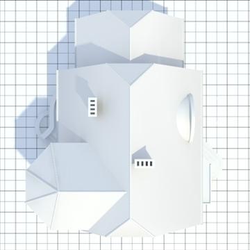 highly detailed single family house 7 3d model blend lwo lxo obj 102488