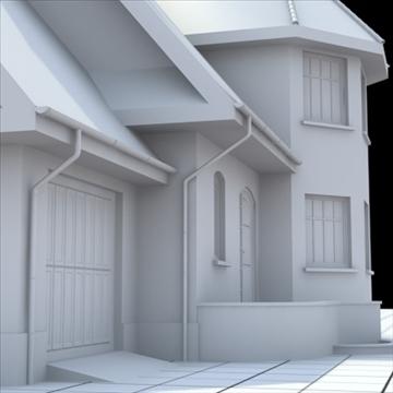 highly detailed single family house 7 3d model blend lwo lxo obj 102489