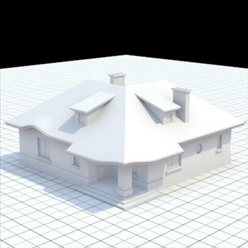 маш нарийвчилсан нэг гэр бүлийн байшин 8 3d загвар холь lwo lxo obj 102685