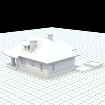 highly detailed single family house 8 3d model blend lwo lxo obj 102686