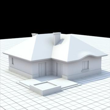 highly detailed single family house 8 3d model blend lwo lxo obj 102687