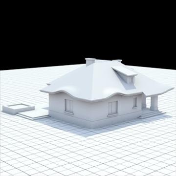 highly detailed single family house 8 3d model blend lwo lxo obj 102688