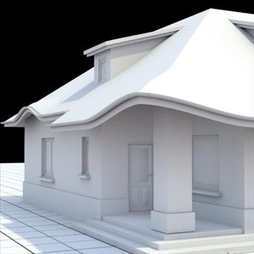 highly detailed single family house 8 3d model blend lwo lxo obj 102689