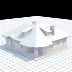 Highly detailed single family house 8 ( 65.75KB jpg by labmatic )
