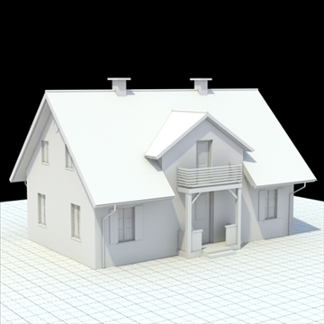 house for single family 3d model 3ds blend lwo lxo obj 100032