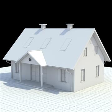 house for single family 3d model 3ds blend lwo lxo obj 100033