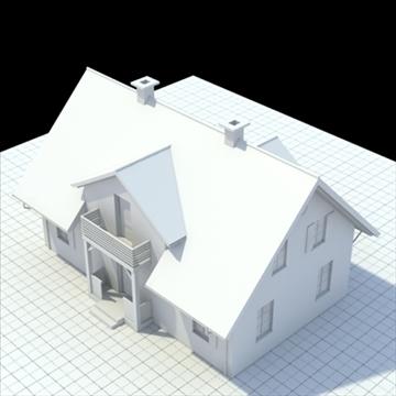 house for single family 3d model 3ds blend lwo lxo obj 100034