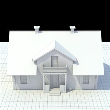 house for single family 3d model 3ds blend lwo lxo obj 100035