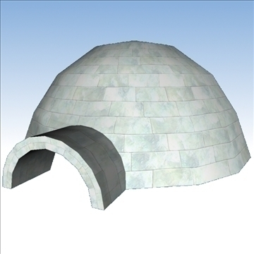 igloo 3d model obj 86486