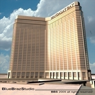 las vegas mandalay bay 3d model 3ds dxf c4d obj 97187
