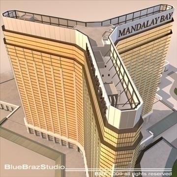 Las Vegas mandalay bay 3d model 3ds dxf c4d obj 97189