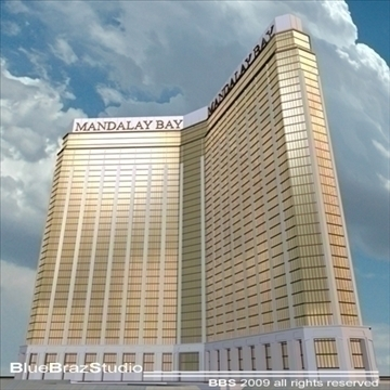 Las Vegas mandalay bay 3d model 3ds dxf c4d obj 97191