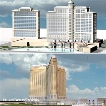 Hoteli u Las Vegasu u Mandalay Bayu Hoteli u gradu: 3d Model 3ds dxf c4d obj 97295