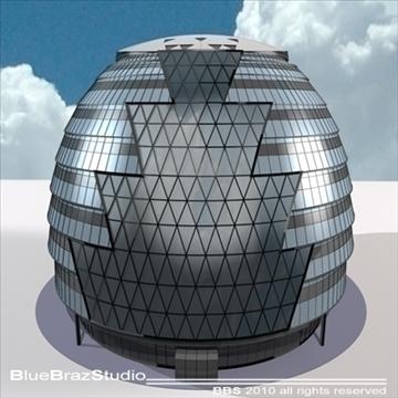 london city hall 3d model 3ds dxf c4d obj 102600