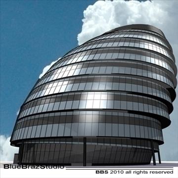 london city hall 3d model 3ds dxf c4d obj 102604
