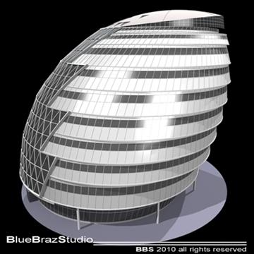 london city hall 3d model 3ds dxf c4d obj 102606