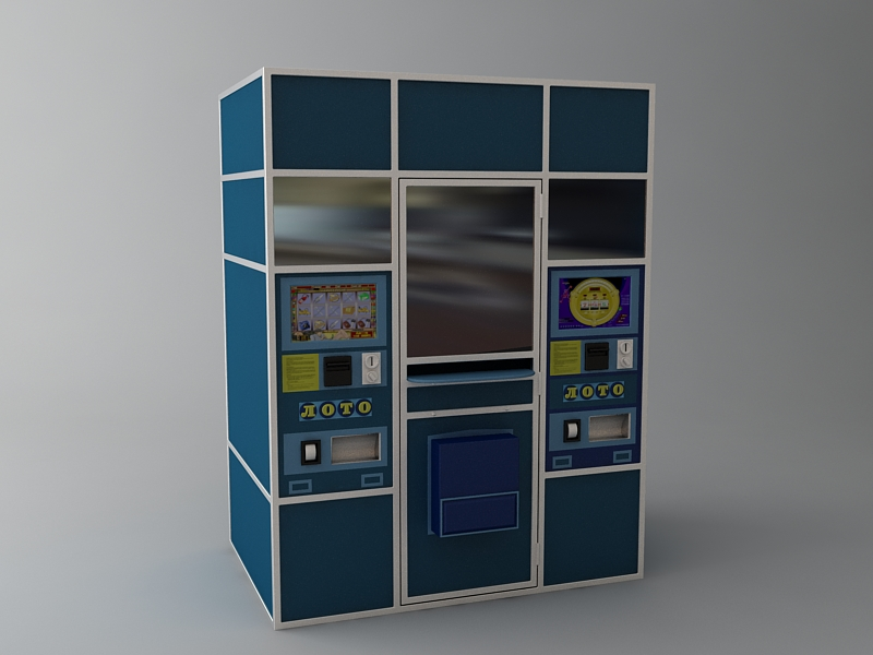 lottery vending machine 3d model max texture 114757