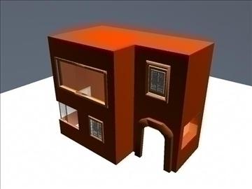 lowpoly orange house 3d model ma mb 109629