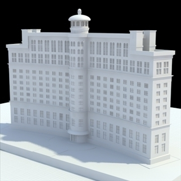luxury hotel 3d model blend lwo lxo obj 100196