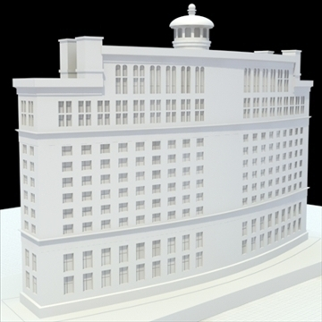 luxury hotel 3d model blend lwo lxo obj 100197