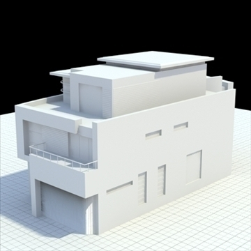 luxury house 2 3d model blend lwo lxo obj 100020