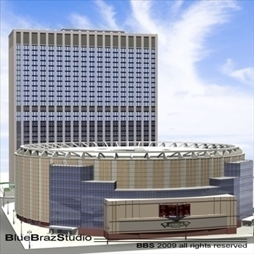 madison square garden 2 3d model 3ds dxf c4d obj 97138