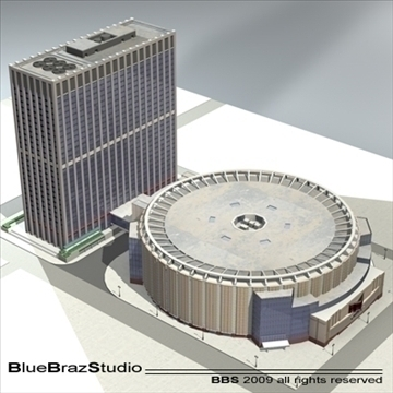 madison square garden 2 3d model 3ds dxf c4d obj 97140