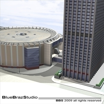 madison square garden 2 3d model 3ds dxf c4d obj 97141