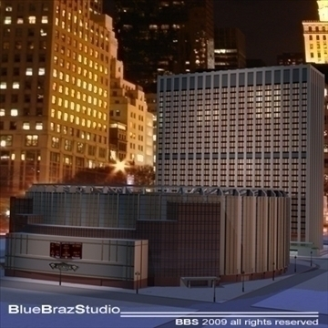 madison square garden 2 3d model 3ds dxf c4d obj 97143