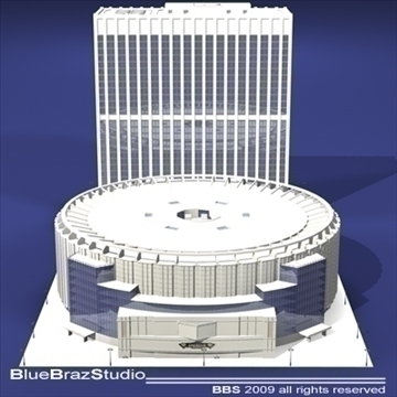 madison square garden 3d model 3ds dxf c4d obj 97093