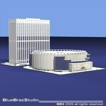 madison square garden 3d model 3ds dxf c4d obj 97094
