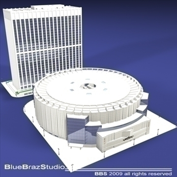 madison square garden 3d model 3ds dxf c4d obj 97095