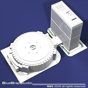 madison square garden 3d model 3ds dxf c4d obj 97096