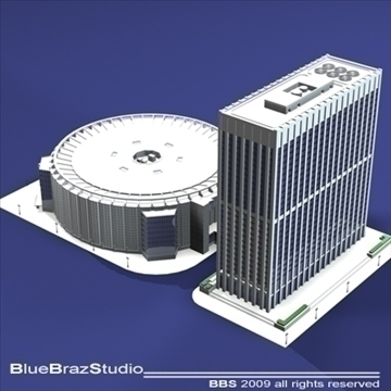 madison square garden 3d model 3ds dxf c4d obj 97097