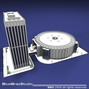 madison square garden 3d model 3ds dxf c4d obj 97098