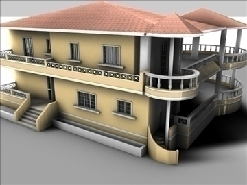 mansion 3d model 3ds c4d texture 85084