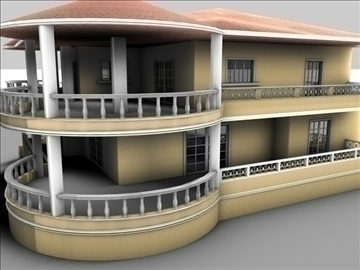 mansion 3d model 3ds c4d texture 85085