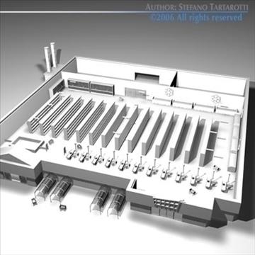 market building 3d model 3ds dxf c4d obj 80515