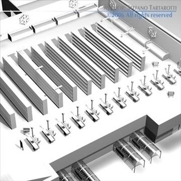 market building 3d model 3ds dxf c4d obj 80517